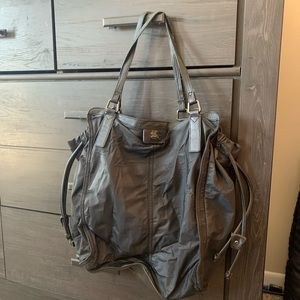 Burberry nylon tote with leather handles